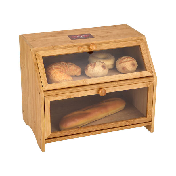 Bamboo Bread Bin 2 Layers image number 2