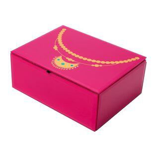 Jewelry Box Glass Pink Helya Design Large