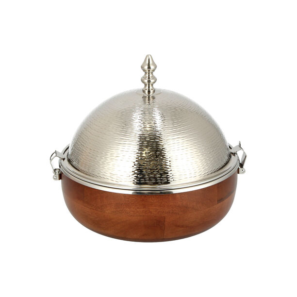 Small Food Warmer nickel Plated image number 1