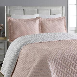 غطاء سرير سوبر كنج لون ابيض من كوتاج