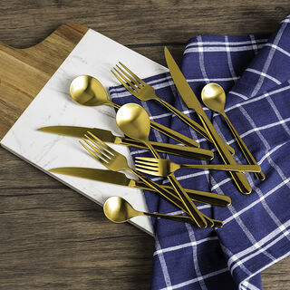 La Mesa Majestic Cutlery Set 20 Pieces Matte Gold