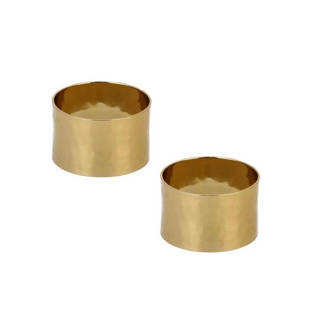 Manuscript Napkin Ring Set Of 2 Gold image number 1