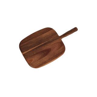 Acacia Wood Cutting Board With Handle Walnut