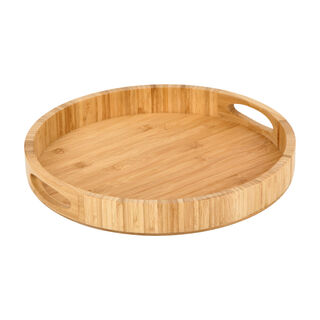 Bamboo Round Serving Tray