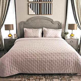 طقم غطاء سرير 3 قطع كينج لون بنفسجي من كوتاج