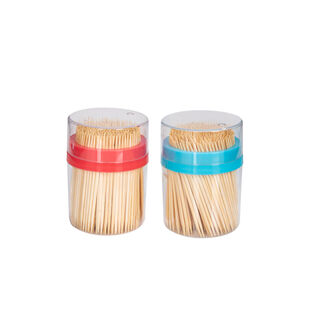 Alberto 2 Pieces Bamboo Toothpick Set With 400 Pieces Per Bottle