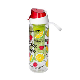 Herevin Plastic Sports Bottle With Infuser V:0.75L Strawberry Detox Design