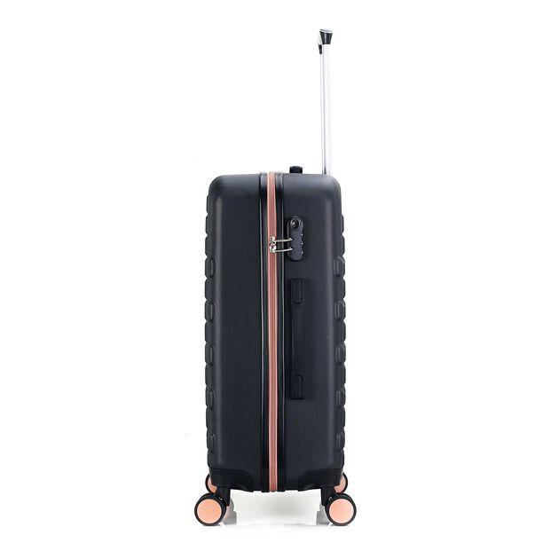 Travel Vision Set Of 4 Butterfly+Vanity Bag Black  image number 3