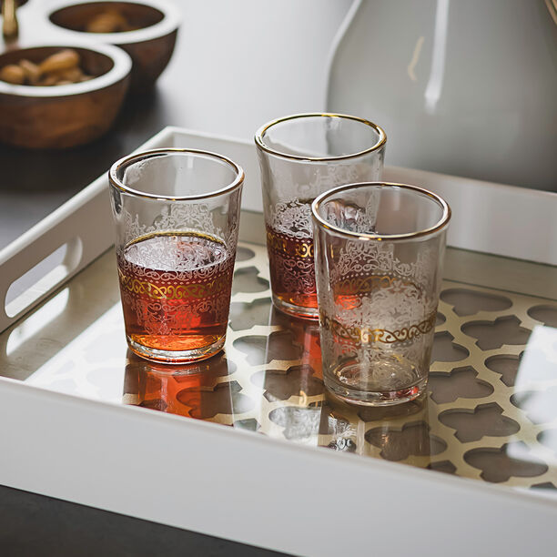 Moroccan Tea Cups Set 6 Pieces Gold image number 2