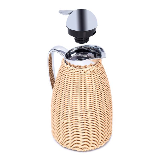 Dallety Stainless Steel Vacuum Flask Design Of Bamboo Light Beige 1L image number 2