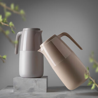 Dallaty Vacuum Flask 1 Pieces Pot Grey 1L