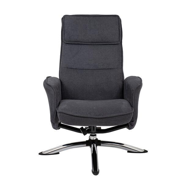 كرسي مكتبي مع مسند إضافي لون رمادي غامق image number 2