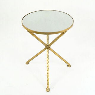 Metal Side Table Gold