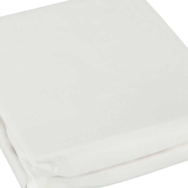Fitted Sheet 180*200+35 White 100% Cotton image number 2