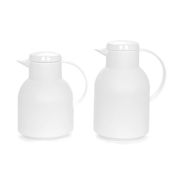 Dallety Plastic Vacuum Flask 2 Pieces Set White  image number 0