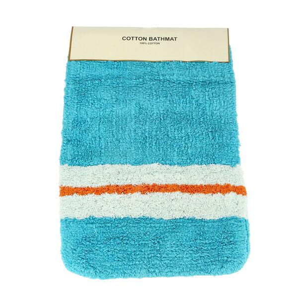 Bath Mat 50X80Cm Cotton Blue  image number 2