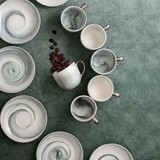 La Mesa Marble With Silver Coffee Set 12 Pieces  image number 4