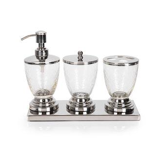 Bath Set Set Of 4 Pcs Silver