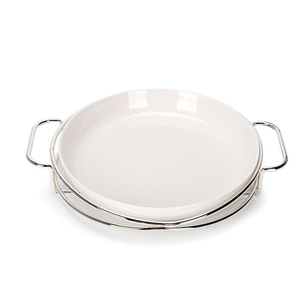 Round Plate With Stand Silver image number 0