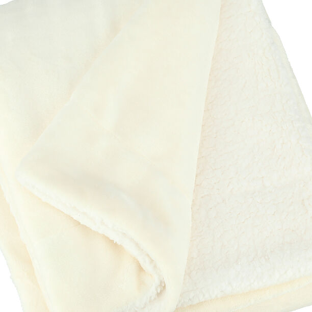 Cottage Flannel Sherpa Throw White image number 3