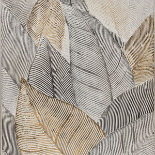 Wall Art Handpainting Leaves