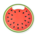 Round Plastic Printed Cutting Board Strawberry Design image number 0