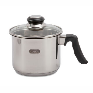 Alberto Stainless Steel Sauce Pan With Glass Lid