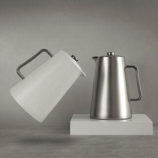 Porcelain Vacuum Flask Samrkand Chrome