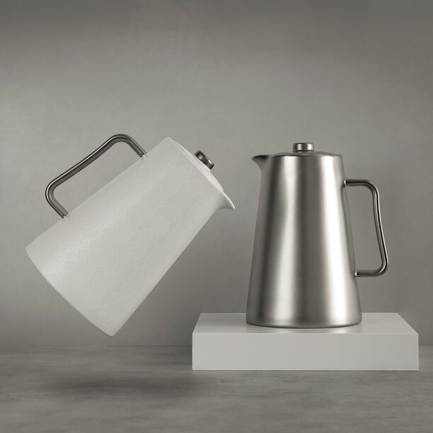 Porcelain Vacuum Flask Samrkand Chrome image number 0