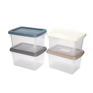4 Pieces Plastic Mini Box 1.5L
