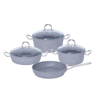 Granit Firin 7 Pcs Cookware Set With Stainless Steel Handle