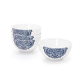 La Mesa Blue Frills 4 Pieces Bowl Set