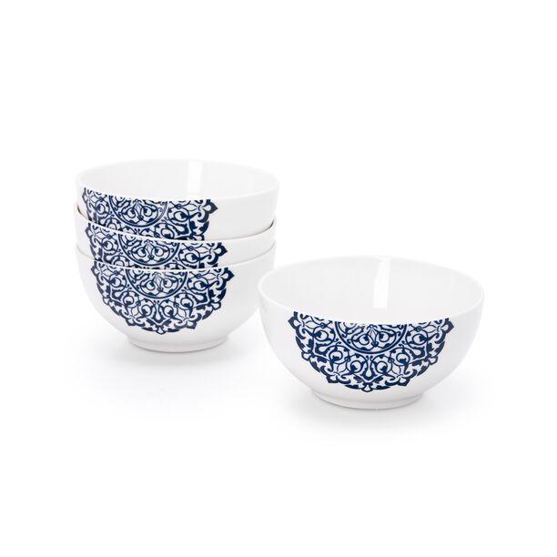 La Mesa Blue Frills 4 Pieces Bowl Set  image number 0