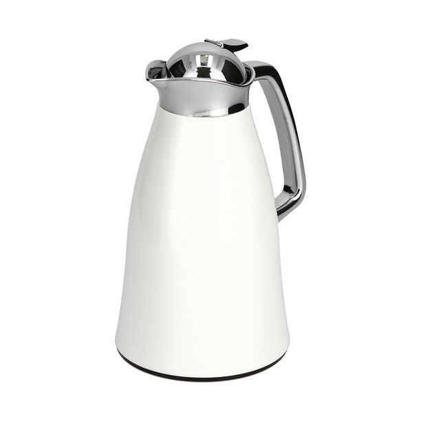Vacuum Flask Chrome And White 1L image number 1