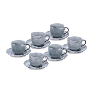 La Mesa Marble With Silver Coffee Set 12 Pieces