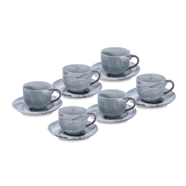 La Mesa Marble With Silver Coffee Set 12 Pieces  image number 0