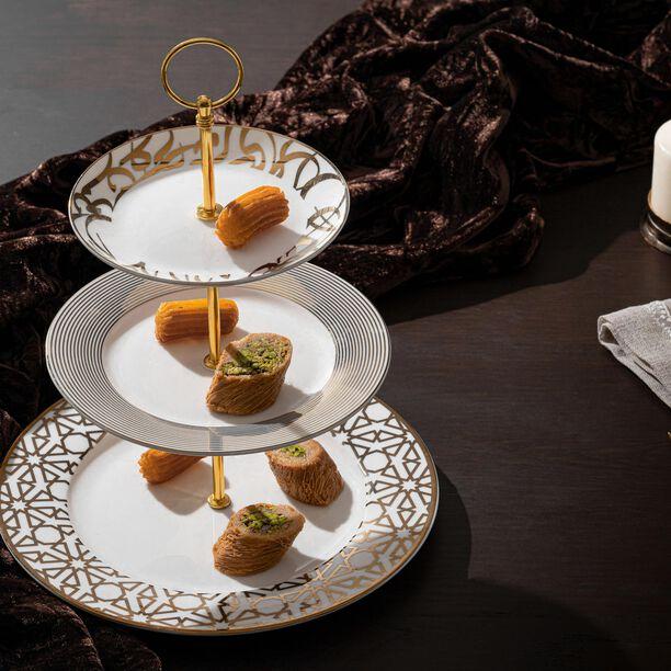 La Mesa 3 Tiers Porcelain Dessert Serving  image number 2