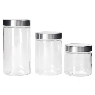 Alberto Container Set 3 Pieces Glass