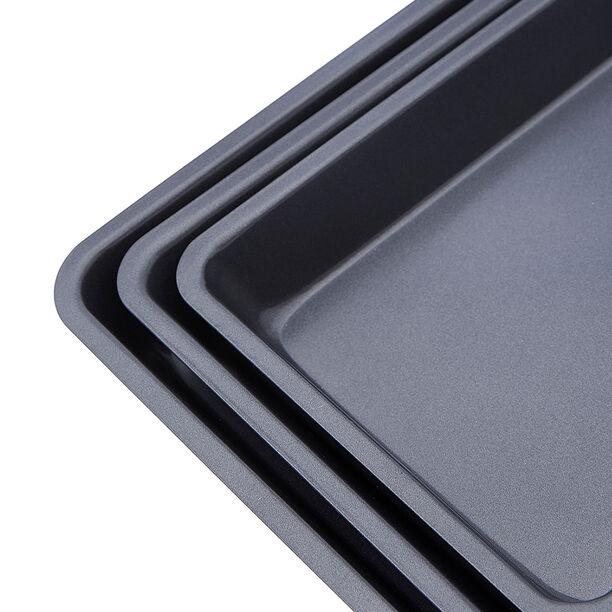 Betty Crocker Non Stick Roaster Pan Set 3 Pieces Grey Color image number 2