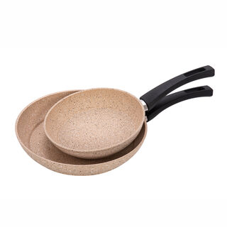 Alberto Granit Frypan Set  2 Pieces Brownstone