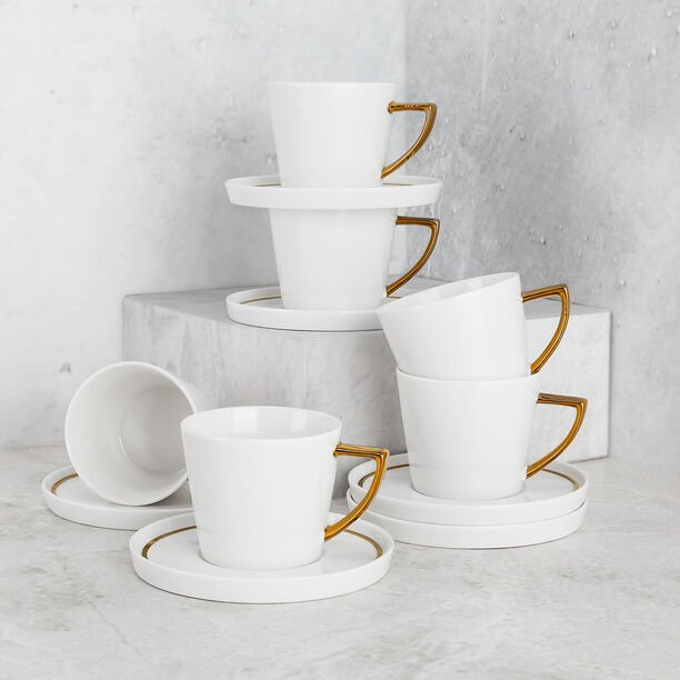 طقم أكواب شاي 12 قطعة لون ذهبي من لاميسا image number 3