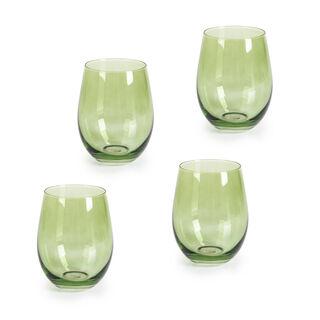 Rio Green 4 Pieces Set Dof Glass