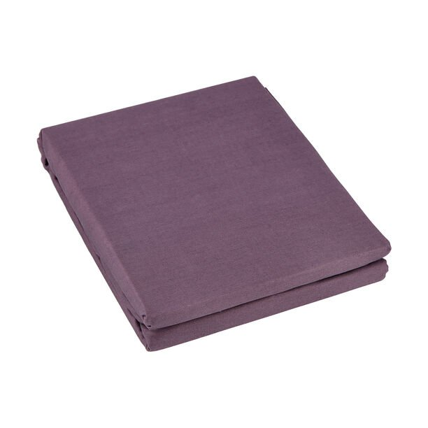 Fitted Sheet 200*200+35 Cm Dark Purple 100% Cotton image number 1