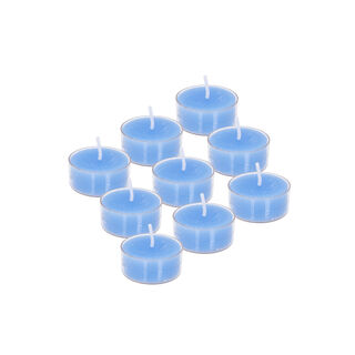 9 Pieces Tea Light Candle Aqua Breezy Beach