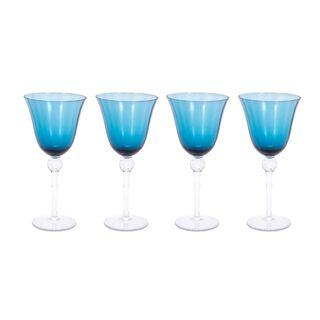 La Mesa 4 Pieces Glass Juices Goblets Blue