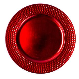 طبق لأسفل صحن المائدة لون احمر