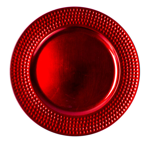 Charger Plate Red Color  image number 0