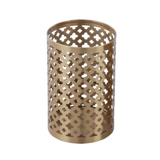 Metal Candle Holder Gold Small