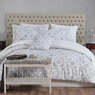 Cottage Cotton Duvet Cover Set 3 Pieces King 200 Tc Grey