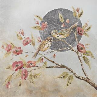 لوحة جدارية طيور